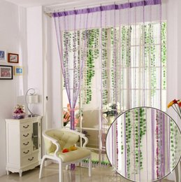 Black door hooks online shopping - 12 Color Beads Line Curtain Modern Yarn Dyed Curtains for Home Living Room Door Hotel Cafe Interior Decoration Solid Curtain