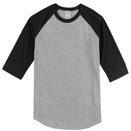 Long Tees Hot Men Australia - Hot 2019 Summer Three Quarter Sleeve Cotton Raglan Tshirt Solid Casual T Shirt Men Brand Clothing Crossfit Top Tees T-shirt Kpop