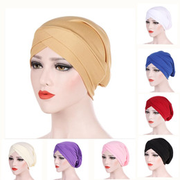 $enCountryForm.capitalKeyWord Australia - Cross Scarf Inner Hijab Cap Islamic Head Wear Hat Headband Turban Head Scarf Headwrap Women Muslim Hijab hairband Muslim Cross