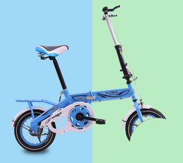 folding bike 12 inch UK - [TB09]Folding bicycle 12 14 16 inch men and women small wheel diameter adult ultra small ultra light portable adult bicycle