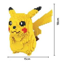 Toys japanese online shopping - HC Pikachu Japanese Anime Diamond Doll Bricks Building Blocks Action Figure Toys Christmas Gift For Children