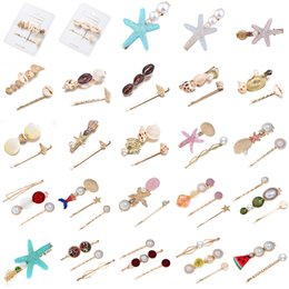 Hairpin stick online shopping - 2019 New Fashion Simple Fashion Women Beach Acrylic Hair Clips Stick Barrette Hairpin Hair Accessories Party Gifts