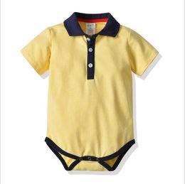 b6d9eb502a Kids Designer Clothes Newborn Baby Boys Romper Jumpsuit 2019 Summer Short  Sleeve Solid Romper Bodysuit Baby Onesie Infant Toddler Clothing