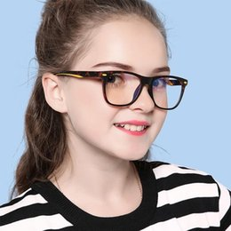 flat computer Canada - New TR90 Children's Anti-blue Light Glasses for Boys and Girls Two-color Flat Goggles Full Frame Anti-radiation Computer Eyewear