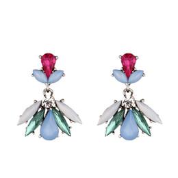 Man Made Diamonds Australia - new fashion bee exquisite artificial diamond ear studs eardrop pendant Women Brand girlfriend boyfriend gift crafts dinner accessoriese