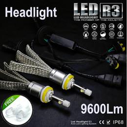 $enCountryForm.capitalKeyWord Australia - R3 fanless 9600lm Car LED Headlight XHP50 Kit H1 H3 H4 H7 H9 H11 H13 9005 HB3 9006 HB4 Automobiles Headlamp Lamps White Canbus