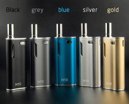 co2 box Canada - Authentic Hibron H10 Starter Kit 650mAh 10W Box Mod Upgraded Thick CE3 BUD CO2 0.8ml Cartridges Atomizer Electronic Cigarettes DHL Free