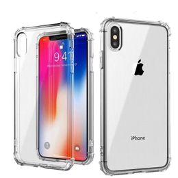 Cheap Back Case Australia - For iPhone 6 7 8plus X XS Max XR transparent dustproof shockproof tpu case cheap slim bumper raised corner back case phone cover
