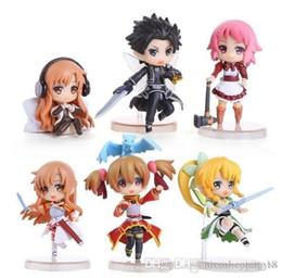 $enCountryForm.capitalKeyWord Australia - Discout T611 2.5inch 6CM 6pcs set Sword Art Online Kirigaya Kazuto Yuuki Asuna Lefa Action Figure OPP