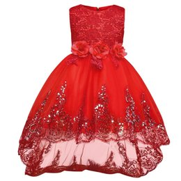 $enCountryForm.capitalKeyWord UK - Baby Girl Princess Wedding Bridal Gown Dress Kids Flower Lace Sequin Party Dresses For Girls Children Clothing Teenager Ceremony Y19061801