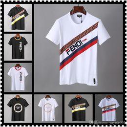 18ss Mens Designer T Shirt Nero Bianco Rosso Mens Designer T Shirt Top manica corta M-3xl in Offerta