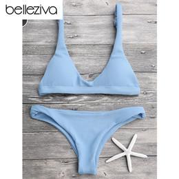$enCountryForm.capitalKeyWord NZ - Belleziva New Sexy Bikinis Women Swimsuit Solid Bathing Swim Suit Bikini Set Swimwear Biquini Beachwear Maillot De Bain 9 Colors