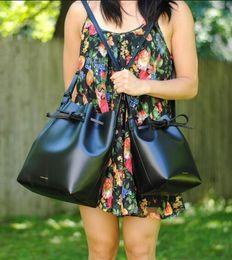 Опт Новые топ роскошные сумки MANSURSTUDIOS ведро сумка Мансур женщины искусственная замша сумка Гавриил леди кросс сумка бесплатная доставка