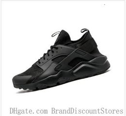 cheap running shoes women NZ - -20 Wholesale Huarache 1 Running Shoes Huaraches 4 Men Women Sneakers Ultra Triple Black White Red Breathable Mesh Cheap Size 36-46