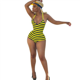 Wholesale yellow one piece swimwear ladies for sale – plus size womens Swimwear One piece Bikini Swimsuit Swimming Wear Bathing Suit Sexy Slim Fashion Lady Woman swimwear high quality klw3294