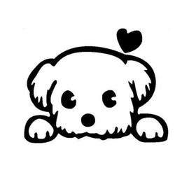 $enCountryForm.capitalKeyWord Australia - 13*10.4CM Baby Pet Cute Dog Cartoon Window Decals Funny Animal Car Sicker Black silver CA-1027