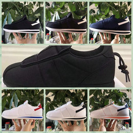 Discount womens casual canvas slip shoes - NCTZ1A New Kendrick Lamar cortezs-Basic kennys Slip Shoes Blue Yellow Top Qaulity Mens Womens Ultra Moire IV Fashion Des