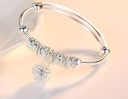 sterling silver bells NZ - Plated 925 silver bracelet women's palace bells fashion wild