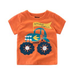 Wholesale Baby Boy s New T shirts Cartoon Car Printing Short Sleeves Tops Tee for Children Kids Boys Cotton Breathable