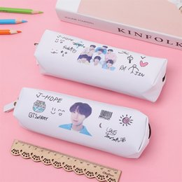 Korean School Stationery Australia - Student School BTS Storage Organizer Stationery BT21 Bangtang Boy BTS JK JIMIN JIN SUGA RM J-HOPE V Cosmetic Case Fans Gifts #164228