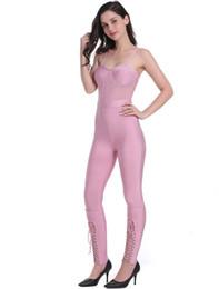Bandage Jumpsuits Australia - Summer Fashion Sexy Sleeveless Pink Bandage Jumpsuit 2019 Celebrity Designer Fashion Jumpsuit