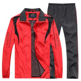 daa0daa3 L-5XL Men Tracksuit 2019 sportswear Sweatshirt+Pants 2pcs Clothing Set  outwear Training Course Track Suit joggers Sport Suit Men