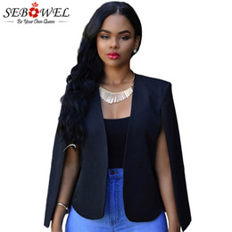 $enCountryForm.capitalKeyWord NZ - SEBOWEL Autumn Black Slim Fit Blazer Women Office Work Open Front Notched Blazer Feminino Long Sleeve Jackets Suit White #409010