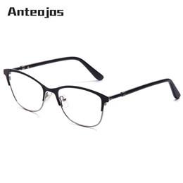 eed68063ab1 Discount trendy eyeglasses frames - ANTEOJOS Men Women s Eyeglasses Trendy  Design Black Metal Optical Frame Myopia