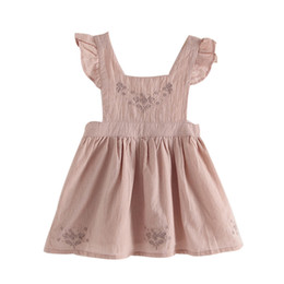 $enCountryForm.capitalKeyWord Australia - Toddler Kids Baby Girl Floral Strap Ruffle Princess Party Pageant Dress Clothes 2019 new products hot sale