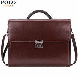 Bag Polo Pu Australia - VICUNA POLO Luxury Business Mens Briefcase With Code-Lock High Quality OL Business Man Bag Italy Brand pasta executiva masculino
