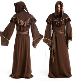 Gothic Style Clothes Australia - Halloween Costumes Witches Gothic Europe Religion Male Priest Cosplay Minister Clothing Female Same Style