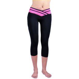 $enCountryForm.capitalKeyWord Australia - Women Sport Athletic Gym Workout Fitness Yoga Waistband Capri Leggings Pants NewN #958923