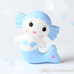 price tools Australia - LOW price Jumbo Squishy Pu Mermaid Slow Rising Cute Kid Squeeze Toy Pressure Relief Soft Gift Release Stress Tool with Naive Emoji T95