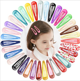 $enCountryForm.capitalKeyWord Australia - Hair Clips 20 Colors Designer BB Hair Clips Candy Color Charm Snap Barrettes Lovely Hair Accessories for Women Girls Free Shipping