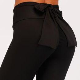8c475b594fa01 Women bowknot Leggings Bodybuilding Slim Legging Gym Skinny Trousers  Sportswear Fitness Female Push Up Pants Active Casual Pant AAA1680