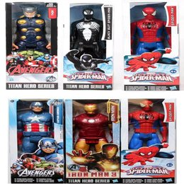 12 marvel figure NZ - The Avengers PVC Action Figures Marvel Heros 30cm Iron Man Spiderman Captain America Ultron Wolverine Figure Toys