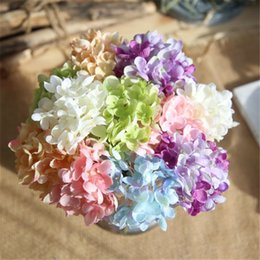 Wholesale Artificial Watercolor Mini Hydrangea Flowers Silk Cloth Beautiful Wedding Decorative Flowers Perfect Home Restaurant Hotel Decoration