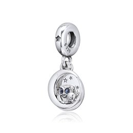 pandora christmas charms Australia - New 100% Real 925 Sterling Silver Bead Fits Pandora Bracelet Always by Your Side Owl Hanging Charm Beads for Women Gift DIY Jewelry