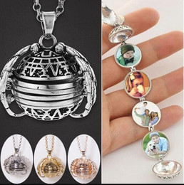 Necklaces Pendants Australia - Magic Photo Pendant Memory Floating Locket Necklace Plated Angel Wings Box Fashion Expanding Necklaces