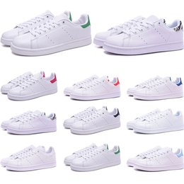 mens casual tennis shoes UK - Smith shoes for mens womens Stan designer black white red blue silver pink smith best sneakers Casual shoes size 36-45
