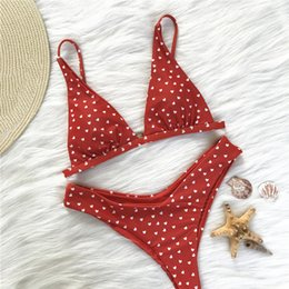cute women swimsuits 2019 - Strap Split Swimsuit Cute Adults Bodysuit Gift Bathing Bikini Set Sweet Swimming Nylon Loving Heart Wire Free Women disc