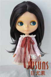 Pretty Hair For Australia - Jusuns 9-10inch Pretty BJD Doll Hair Soft Synthetic Mohair Doll Wig for Blythe Blond and Black Wig Fashion Doll Accessories JD078
