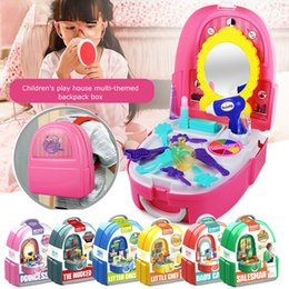 $enCountryForm.capitalKeyWord NZ - Children's Miniature Play House Set Kitchen Cosmetics Doctor Food Backpack Box Kids Toys Portable Handbag Girls Boys Toys For Children