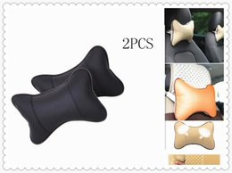 car pillows NZ - 2Pcs Set Universal Cushion Pillow Car Headrest PU Auto Accessories for CT IS LX GS LF-SA UX RC ES RX NX LS LF-1 LC