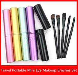 $enCountryForm.capitalKeyWord Australia - Makeup Tools 5pcs Travel Portable Mini Eye Makeup Brushes Set for Eyeshadow Eyeliner Eyebrow Lip Blush Horse Hair Nylon MakeUp Brushes kit