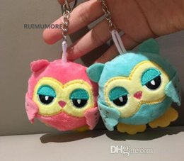 Big Wholesale Plastic Chains Australia - Sweety 2 Colors - OWL 9CM key chain toys Plush Stuffed animal owl TOY small Pendant dolls Wedding Party Gift Plush Toys for kids