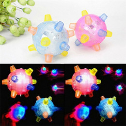 Wholesale Jumping Activation Balls Toys Novelty Colorful Music Bouncing Ball Baby Blue Red Electric Light Emitting Toys Hot Selling bd L1