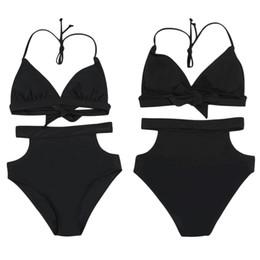 Ms Swimsuits Australia - 2019 Ms. split swimsuit, solid color aura, open swimsuit, sexy swimsuit, wholesale, new European and American bikini swim wear swimming logo