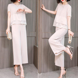 Women pants suits for Weddings online shopping - Chiffon Pant Suits For Mother of the Bride Groom Women Party Wedding Guest Formal Summer Elegant Piece Set Pantsuit Outfits
