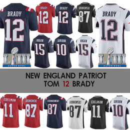 e92e53d06 10 Josh Gordon jersey 11 Julian Edelman Patriot jerseys 15 Chris Hogan 92  James Harrison 87 Rob Gronkowski Super Bowl